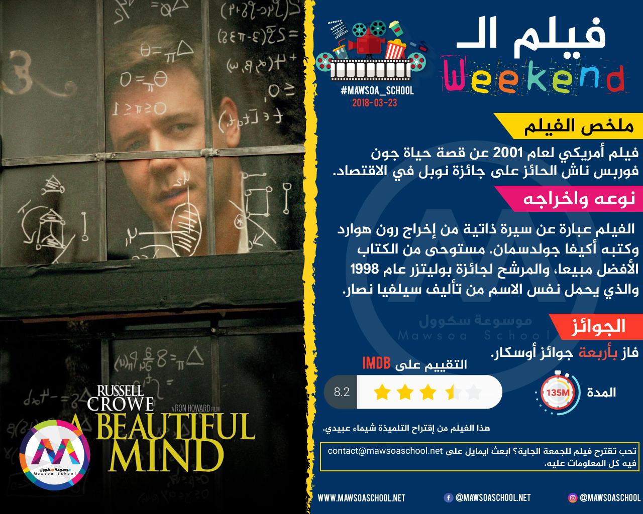 فيلم الـWeekend: A Beautiful Mind