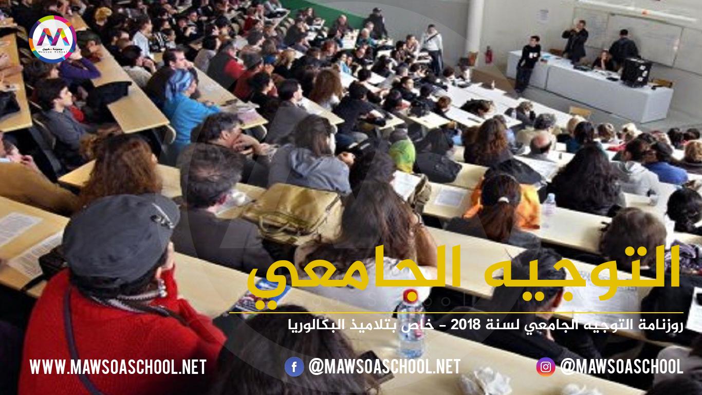 بلاغ وزارتي التربية والتعليم العالي حول التوجيه الجامعي لتلاميذ البكالوريا لسنة 2018